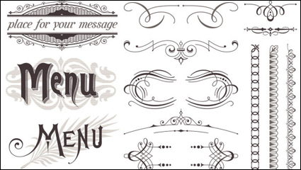 Link toEuropean-style lace pattern 02-- vector material