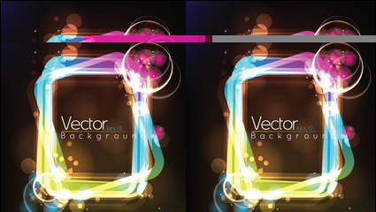 Link toLight the frame vector material -3