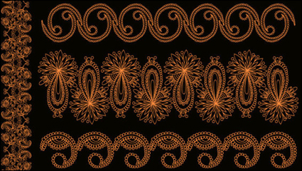 Link toOrange lace vector material -1