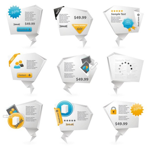 Link toInnovative three-dimensional origami icon 02-- vector material