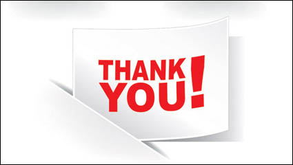 Link toThank you vector material