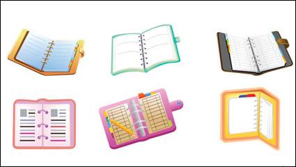 Link toCartoon school supplies icon - vector