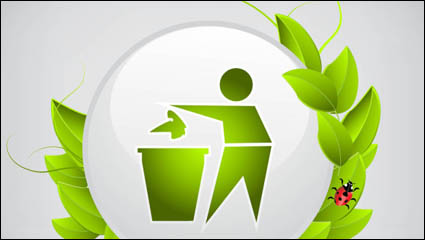 Link toThe green icon 02 - vector