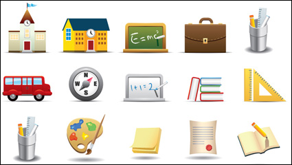 Link toEveryday office supplies icon - vector