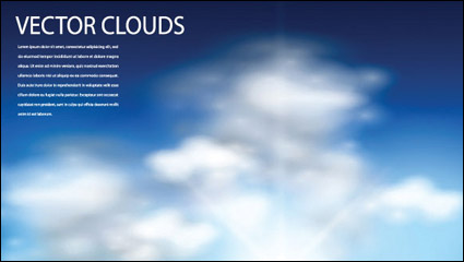 Link toBlue sky and clouds vector