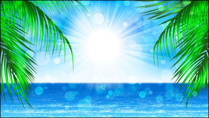 Link toBeautiful coastal scenery - vector