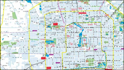 Beijing city map vector