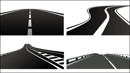 Realistic highway 01 - vector material