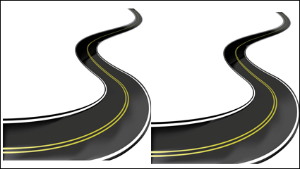 Realistic highway 02 - vector material