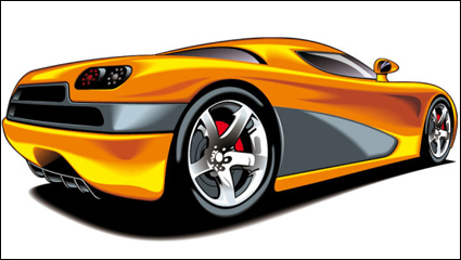 Beautiful sports car 04 - vector material