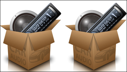 Car audio vector material -4