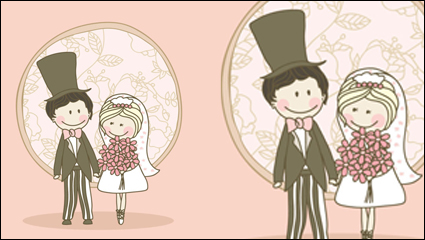 Link toCartoon-style wedding elements 04-- vector material