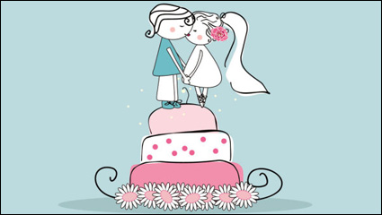 Link toCartoon-style wedding elements 02-- vector material