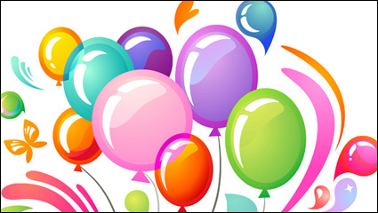 Link toMulti colored balloons vector