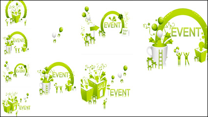 Link toFresh green festival discount vector material