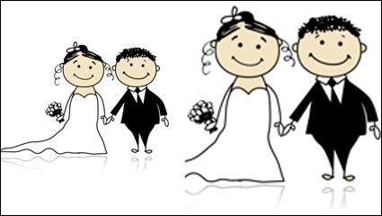 Link toComic style wedding elements 05 - vector