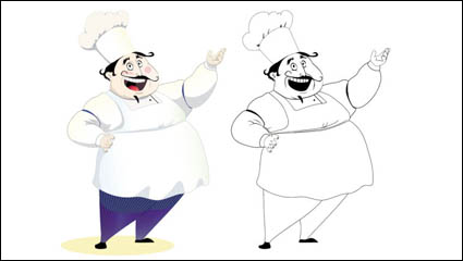 Link toCartoon characters chef 08-- vector material