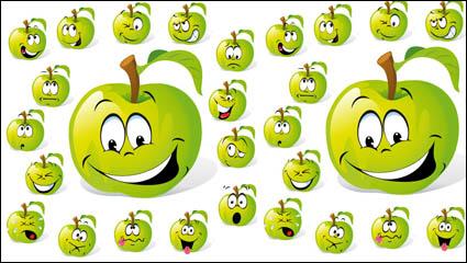 Link toCartoon fruit expression 01 - vector