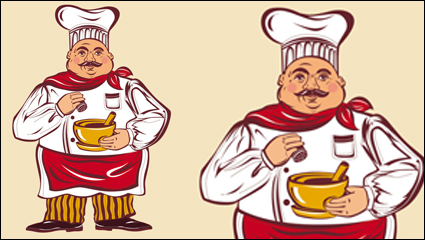 Link toCartoon characters chef 03-- vector material