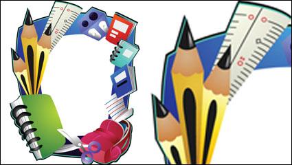 Link toCartoon school supplies 04 - vector