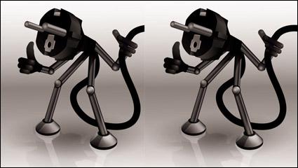 Link toCartoon plug 04 - vector