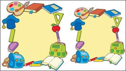 Link toCartoon school supplies 05 - vector