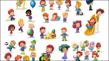 Link toCartoon children vector material