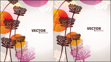 Link toLovely flowers vector material -4