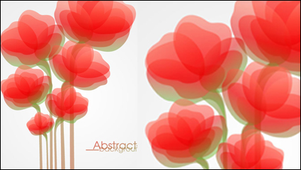 Fashion flowers vector material -4