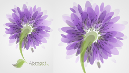 Link toFashion flowers vector material -3
