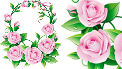 Link toBeautiful flowers 05-- vector material
