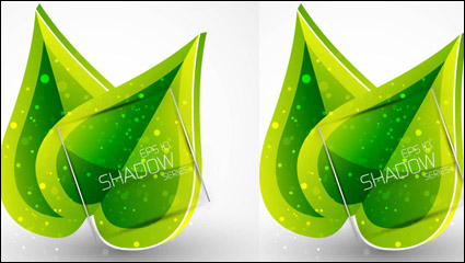 Spring green leaves 01 – vector