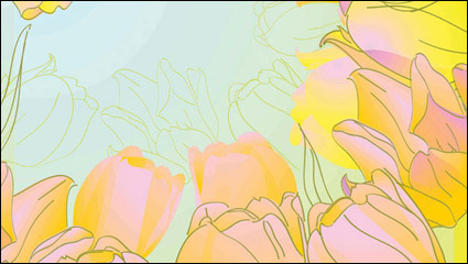 Hand-painted tulips vector -5