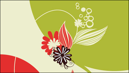 Lovely flowers vector material -5