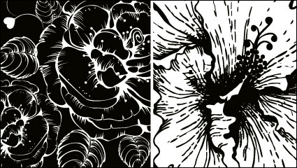 Print flowers vector material -2