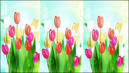 Link toBeautiful flowers vector material -4