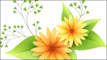 Link toBeautiful small flowers vector material -1