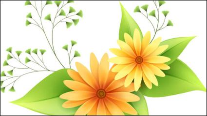 Beautiful small flowers vector material -1
