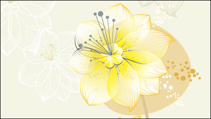 Link toLovely flowers vector material -3