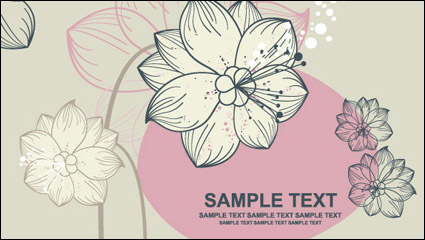 Link toLovely flowers vector material -1