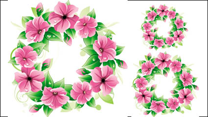 Link toBeautiful flowers 04 - vector