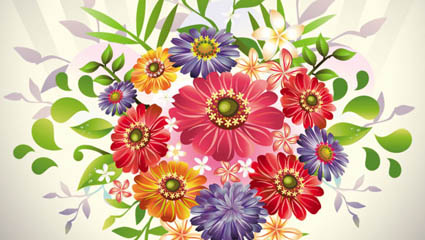 Beautiful bouquets 05 – vector