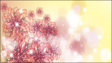 Link toThe trend of flowers background 01 - vector