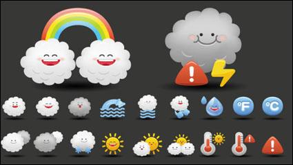 Link toCartoon weather icon 02 - vector