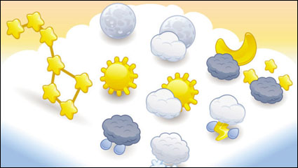 Link toCartoon weather icon 04 - vector