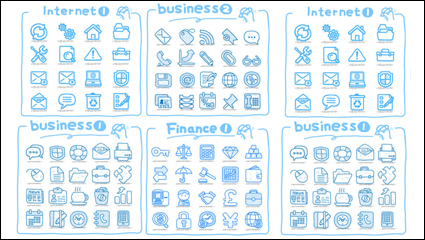 Line art icons - vector material