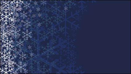 Link toBeautiful snowflake pattern background 01 - vector material