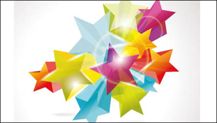 Link toBrilliant dynamic five-pointed star 02 - vector material