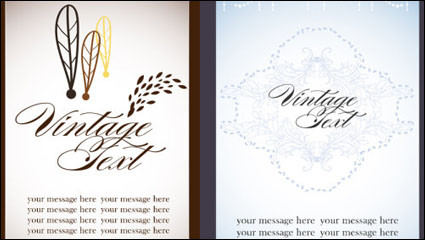 Link toBeautiful card 02 - vector material