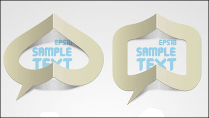 Link toCreative paper folded hollow text template vector material -1